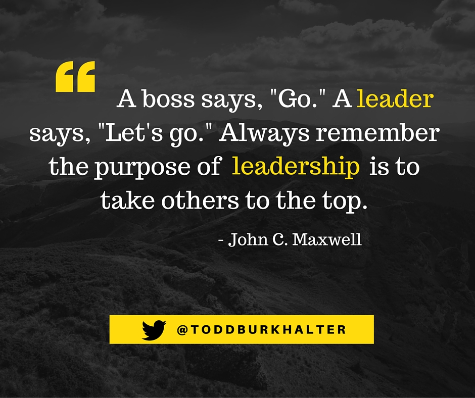 Maxwell a boss says leader quote image TB